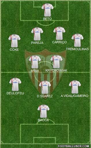 1134354_Sevilla_FC_SAD Posible alineación del Sevilla- Jornada 9 - Comunio-Biwenger