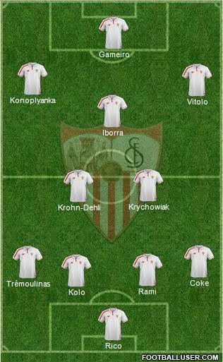 1358942_Sevilla_FC_SAD Posible alineación del Sevilla - Jornada 10 - Comunio-Biwenger