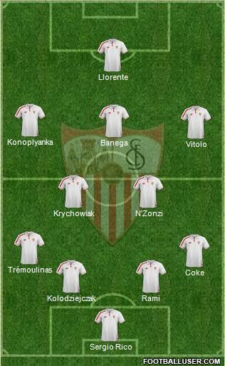 1361080_Sevilla_FC_SAD Posible alineación del Sevilla - Jornada 11 - Comunio-Biwenger