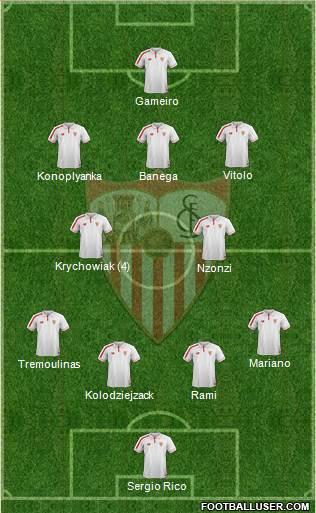 1375270_Sevilla_FC_SAD Posible alineación del Sevilla - Jornada 15 - Comunio-Biwenger