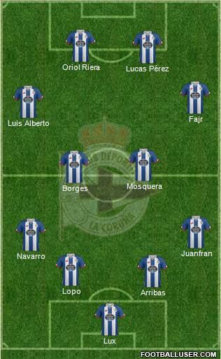 1419815_RC_Deportivo_de_La_Coruna_SAD Posible alineación del Deportivo - Jornada 28 - Comunio-Biwenger