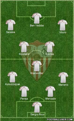 1511148_Sevilla_FC_SAD Posible alineación del Sevilla - Jornada 6 - Comunio-Biwenger