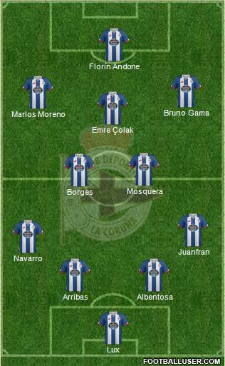 1512681_RC_Deportivo_de_La_Coruna_SAD Posible alineación del Deportivo de La Coruña - Jornada 7 - Comunio-Biwenger