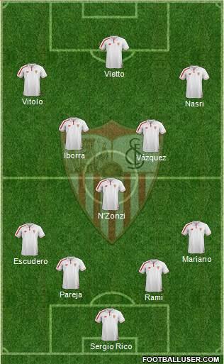 1521569_Sevilla_FC_SAD Posible alineación del Sevilla - Jornada 9 - Comunio-Biwenger