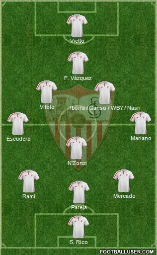 1531326_Sevilla_FC_SAD Posible alineación del Sevilla - Jornada 12 - Comunio-Biwenger