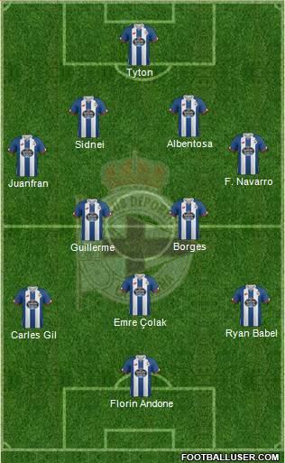 1537131_RC_Deportivo_de_La_Coruna_SAD Posible alineación del Deportivo - Jornada 15 - Comunio-Biwenger
