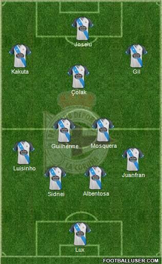 1562894_RC_Deportivo_de_La_Coruna_SAD Posible alineación del Deportivo - Jornada 24 - Comunio-Biwenger