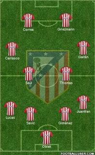 ProbableAlineacioCC81nAtleCC81ticoDeMadridJornada32-1 Posible alineación del Atlético de Madrid - Jornada 32 - Comunio-Biwenger