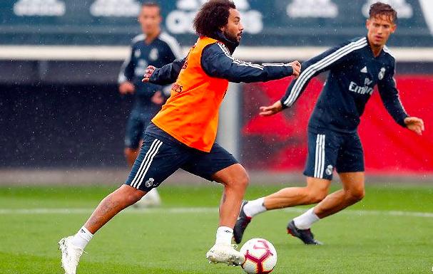 Marcelona-Entrenamiento-Real-Madrid Marcelo completa el entrenamiento con el grupo - Comunio-Biwenger